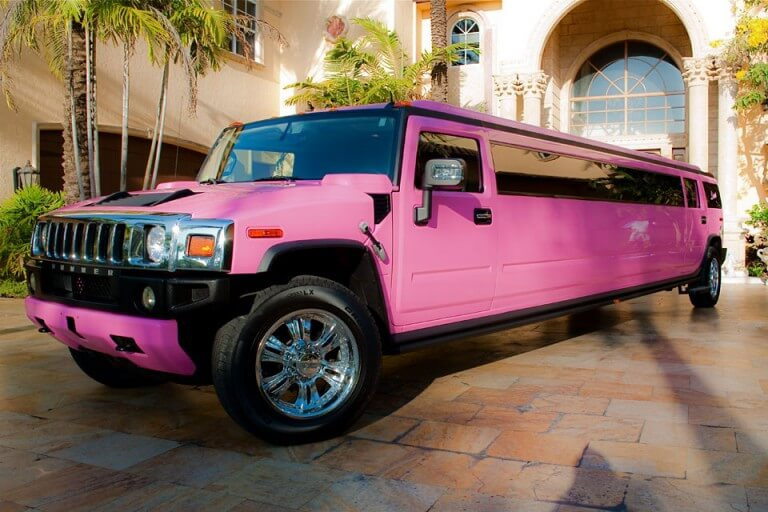 Pink Hummer Limo Miami FL